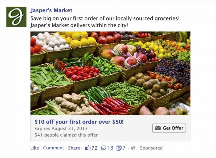 Aanbieding advertenties - adverteren op facebook